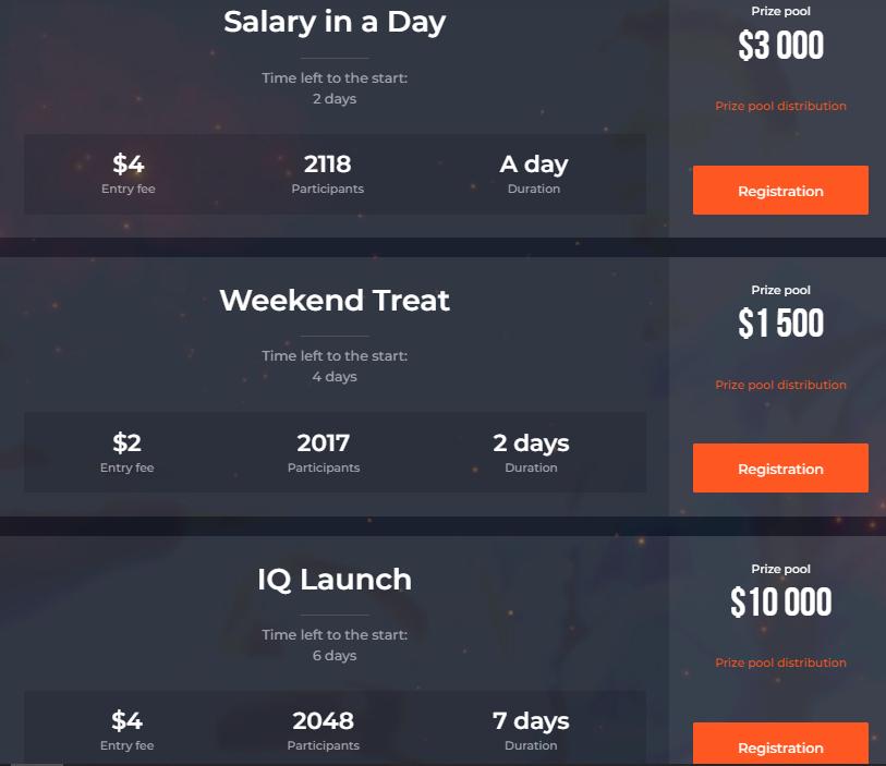 IQ Option 트레이딩 토너먼트-최대 상금 $ 50,000